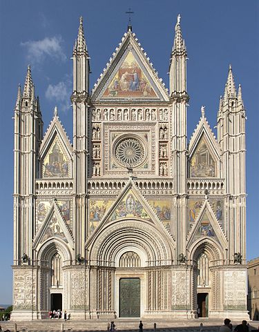 Orvieto, façade of the cathedral