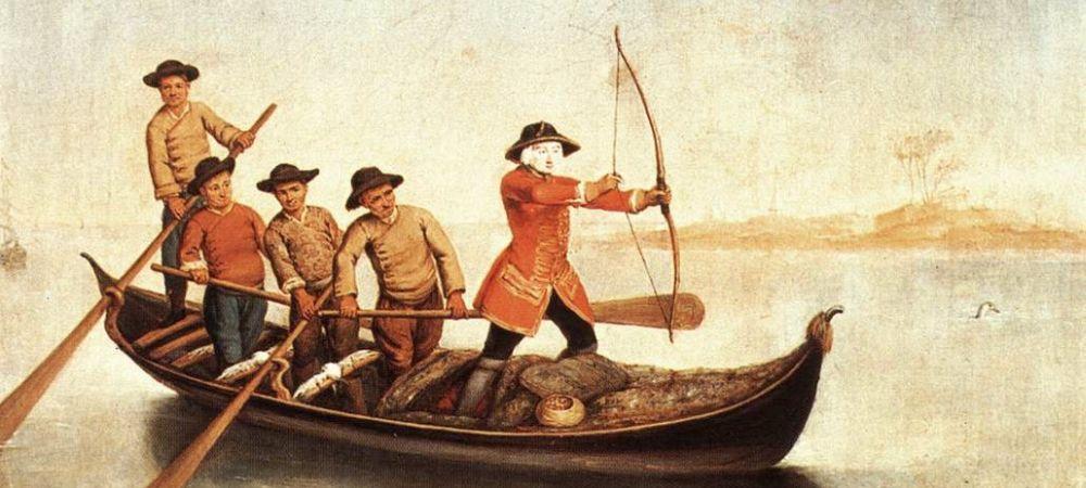 Pietro Longhi, Duck Hunters on the Lagoon, Fondazione Querini Stampalia, Venice - detail