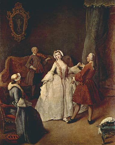 Pietro Longhi, The Dancing Lesson, Gallerie dell'Accademia, Venice