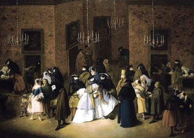 Pietro Longhi, The Ridotto in Venice, Private collection