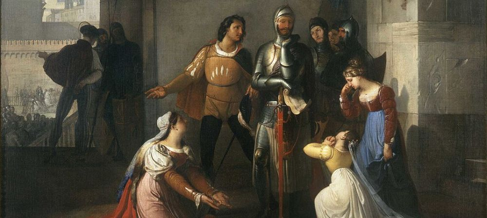 Pietro Rossi As A Prisoner Of The Scaligers, Francesco Hayez, San Fiorano Collection, Milan - detail