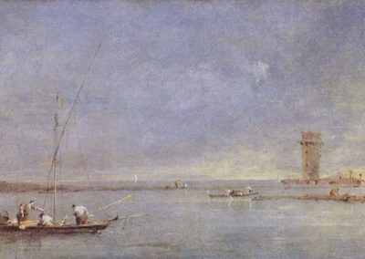 The tower of Marghera, Francesco Guardi, London, National Gallery