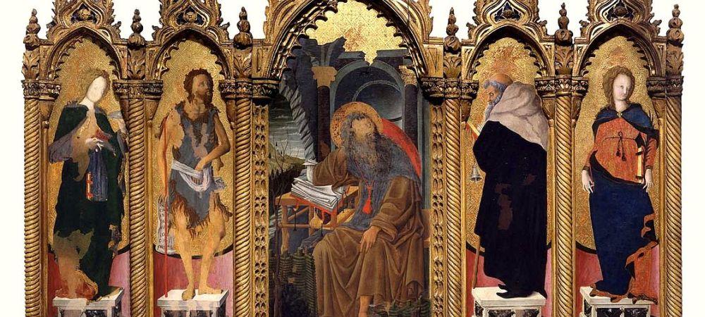 Polyptych of Lazarus, Museo Civico, Padua - detail, Francesco Squarcione