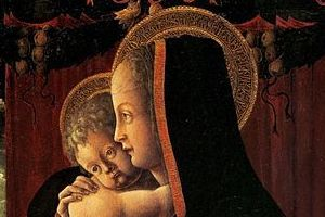 Virgin and Child - detail, Francesco Squarcione