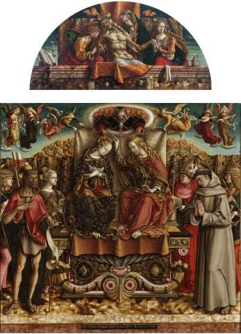 Coronation of the Virgin, Palazzo Brera, Milan, Italy