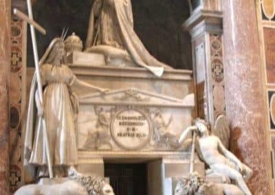 Monument to Clement XIII by Antonio Canova, St. Peter's Basilica, Vatican