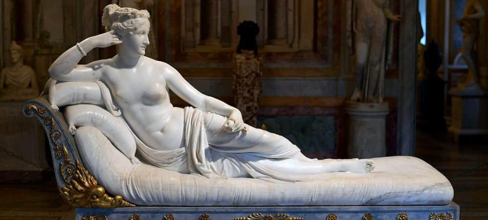 Portrait of Carolina Bonaparte - detail, by Antonio Canova, Villa Borghese, Rome