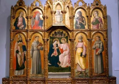 Polyptych, Coronation of the Virgin and the Saints, 1464, Civic Museum, Osimo
