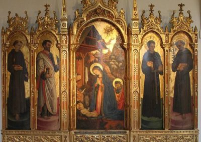Polyptych of the Adoration and Saints, 1447, Prague, National Gallery
