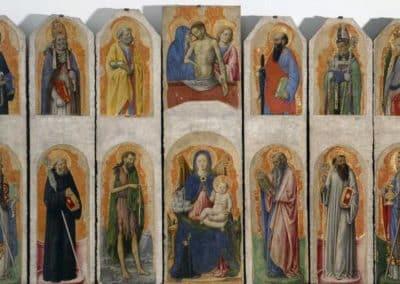 Praglia Polyptych, 1448, Brera pinacoteca, Milan