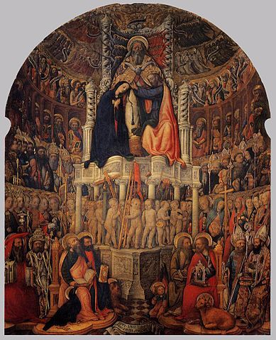 The Coronation of the Virgin, 1444, Church of San Pantalon, Venice