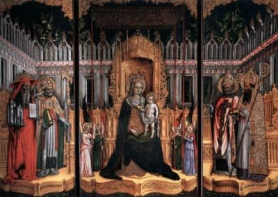 Triptych Madonna and Child Surrounded by Saints, 1446, Galleria dell Accademia, Venice, Italy