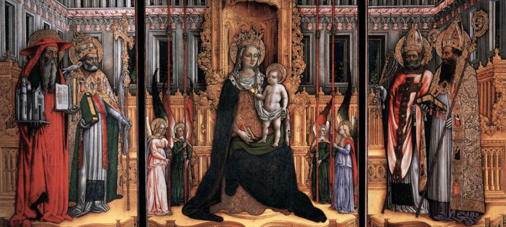 Triptych Madonna and Child Surrounded by Saints, 1446, Galleria dell Accademia, Venice, Italy - Detail