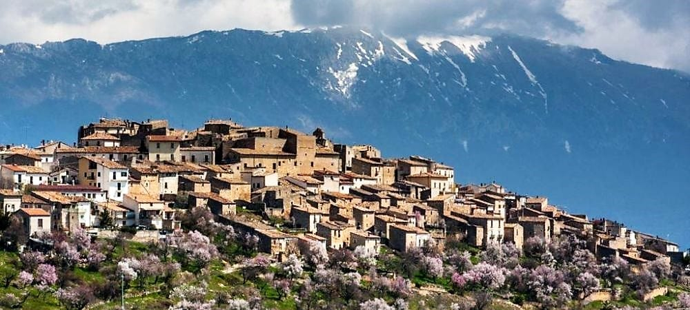 Castelvecchio Calvisio, Abruzzo. The greenest region in Europe. One of the best regions in the world for the quality of life