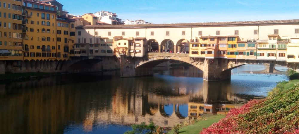 Florence Ponte Vecchio in Tuscany region. Renaissance center with the Medici lords. Etruscan cities with Pisa, Arezzo, Volterra.