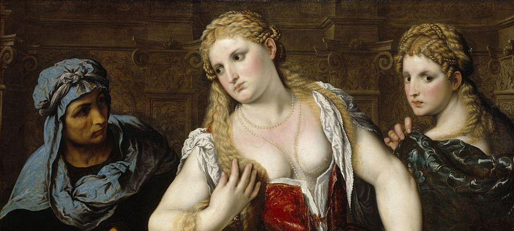 Venetian Women at their Toilet, Paris Bordone, about 1545, National Galleries of Scotland, Edinburgh - detail