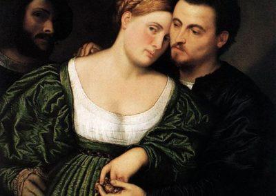 Venetian lovers, oil on canvas, Pinacoteca di Brera, Milan