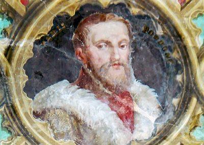 Portrait of Paris Bordone, Venetian artist, in Villa Torlonia, Rome
