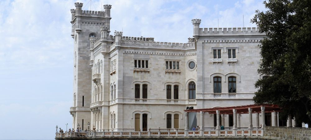 Trieste, Miramare castle. North-east of Italy, Friuli Venezia Giulia region.