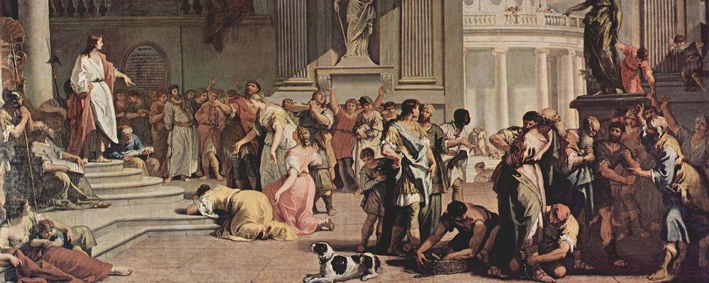 Susanna before Daniel, 1725-26, Sabauda Gallery, Turin - detail. Painting by Sebastinao Ricci, Venetian artist, baroque painter