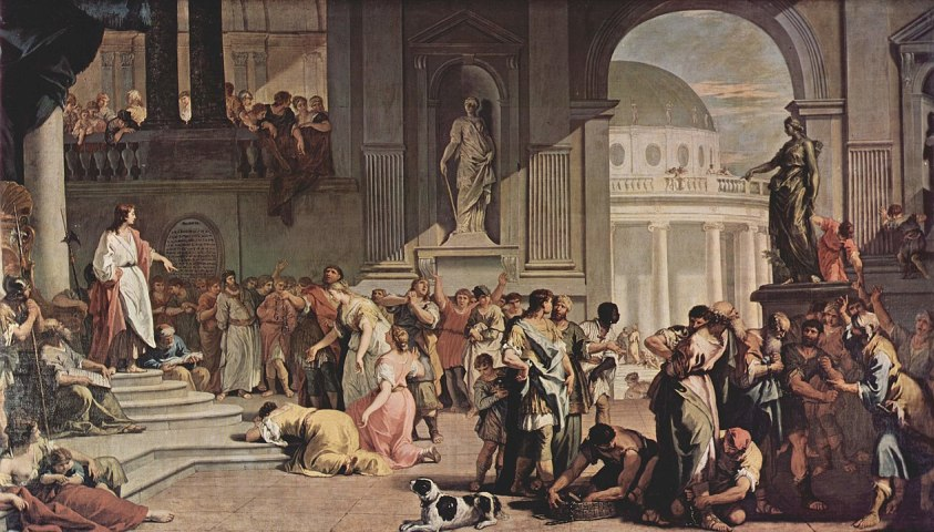 Susanna before Daniel, 1725-26, Sabauda Gallery, Turin. Painter Sebastiano Ricci, Venetian artist of the 17th and 18th century, Italian painter of the Baroque period