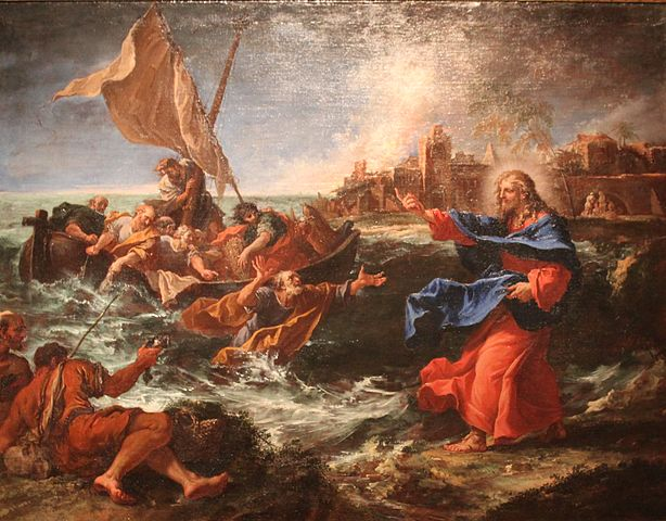 The Miraculous Draught of Fishes, 1695, Detroit Institute of Arts. Painter Sebastiano Ricci, Venetian artist of the 17th and 18th century, Italian painter of the Baroque period